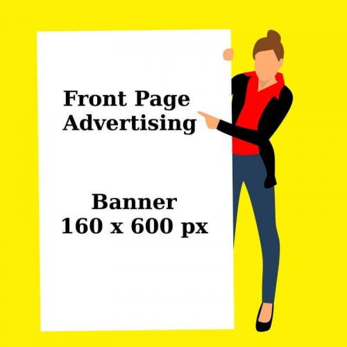 front page banner ad